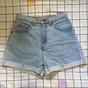 Vintage Levi's orange tab jean shorts